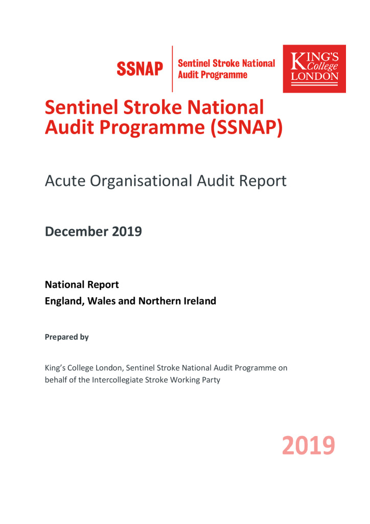 Sentinel Stroke National Audit Programme – Organisational Audit report