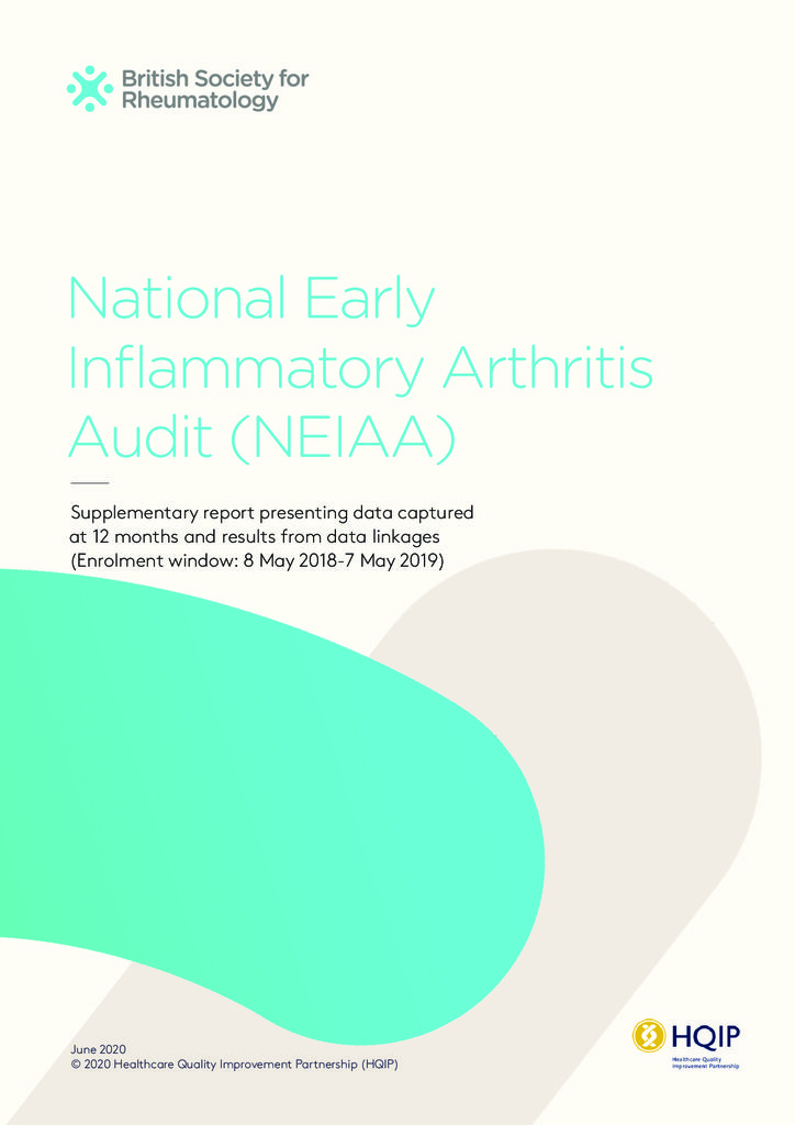 National Early Inflammatory Arthritis Audit – Supplementary Report