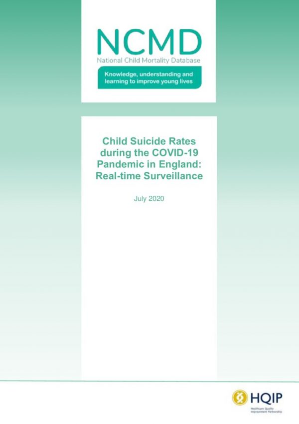 thumbnail of REF253 2020 NCMD Summary Report on Child Suicide July 2020