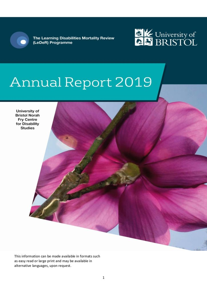 The Learning Disabilities Mortality Review Programme – Annual Report 2019