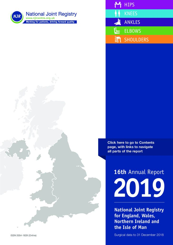 National Joint Registry 16th Annual Report 2019