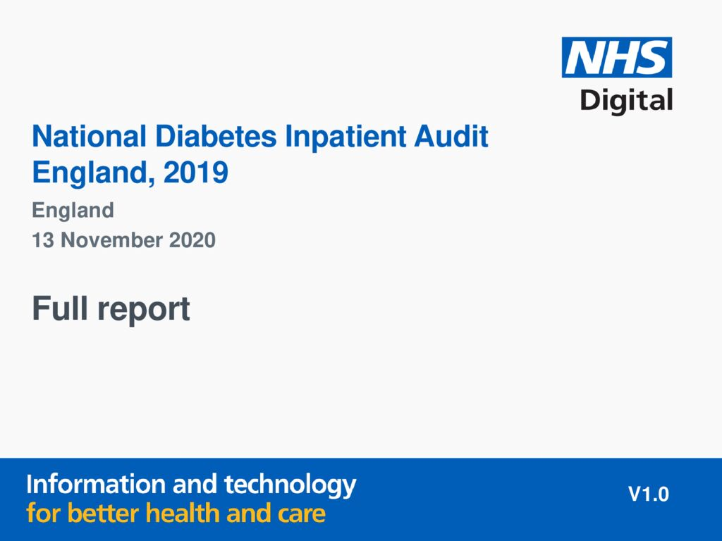 National Diabetes Inpatient Audit 2019 report