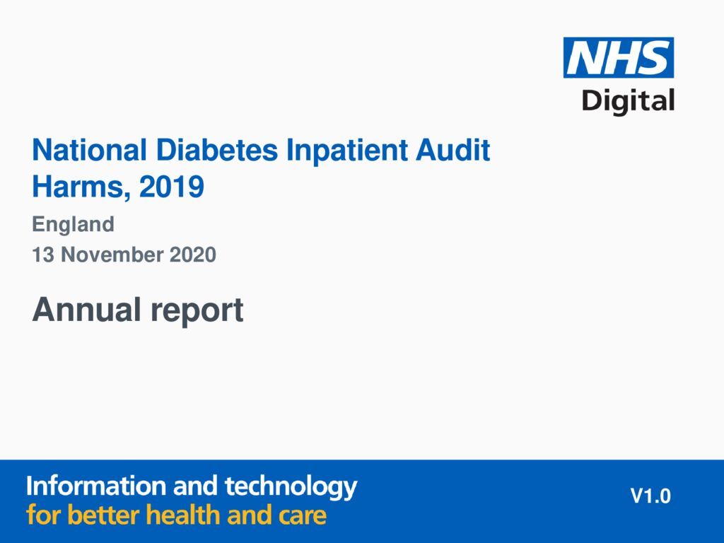 National Diabetes Inpatient Audit – Harms 2019 report