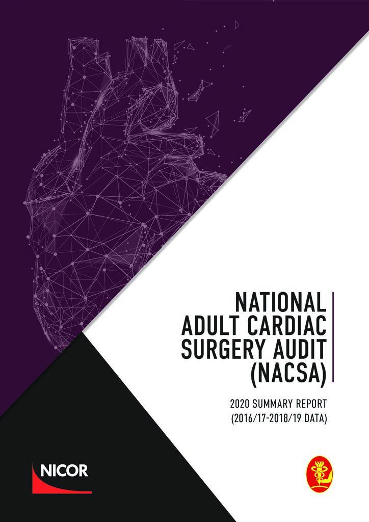 Adult Cardiac Surgery – 2020 summary report