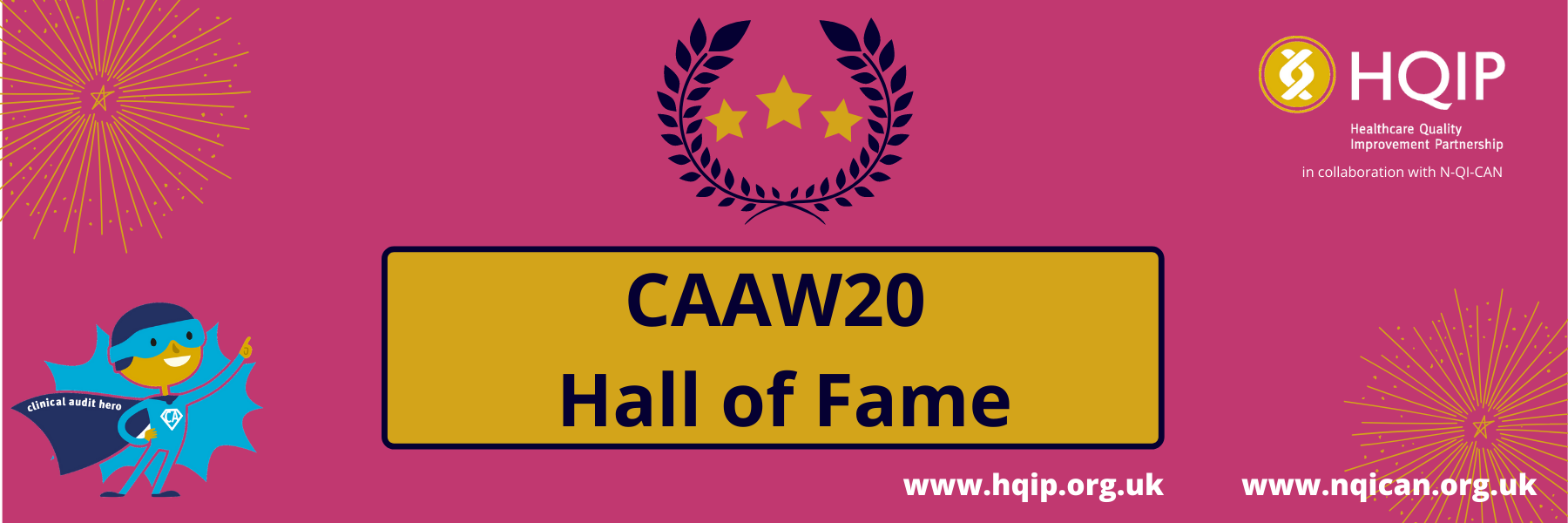 CAAW20 Hall of Fame banner
