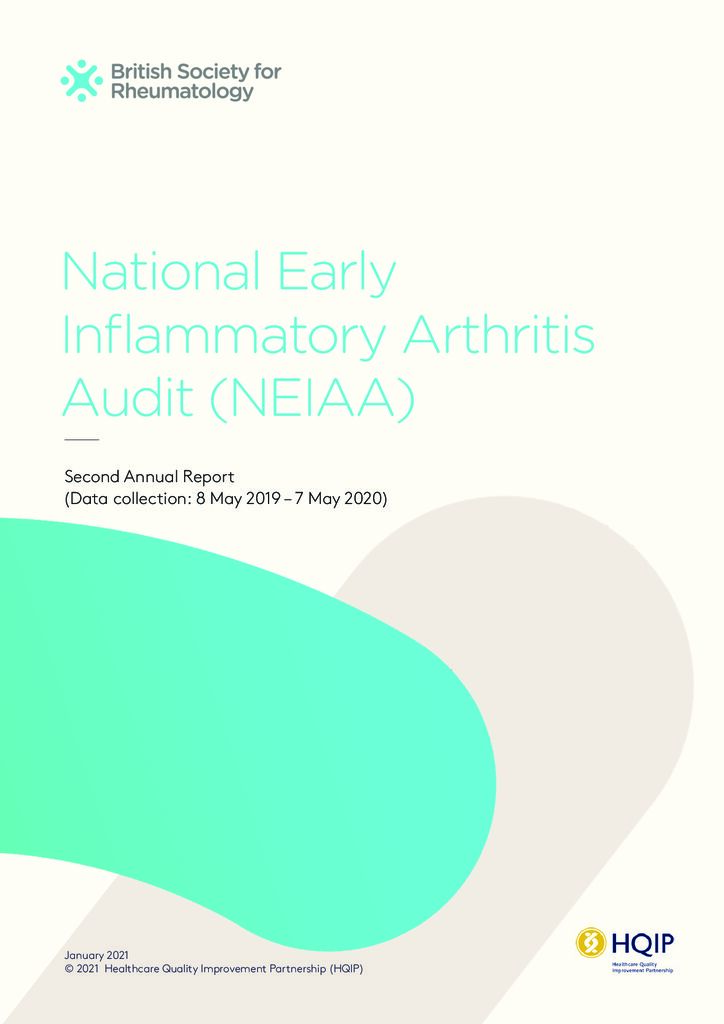 National Early Inflammatory Arthritis Audit – Second Annual Report
