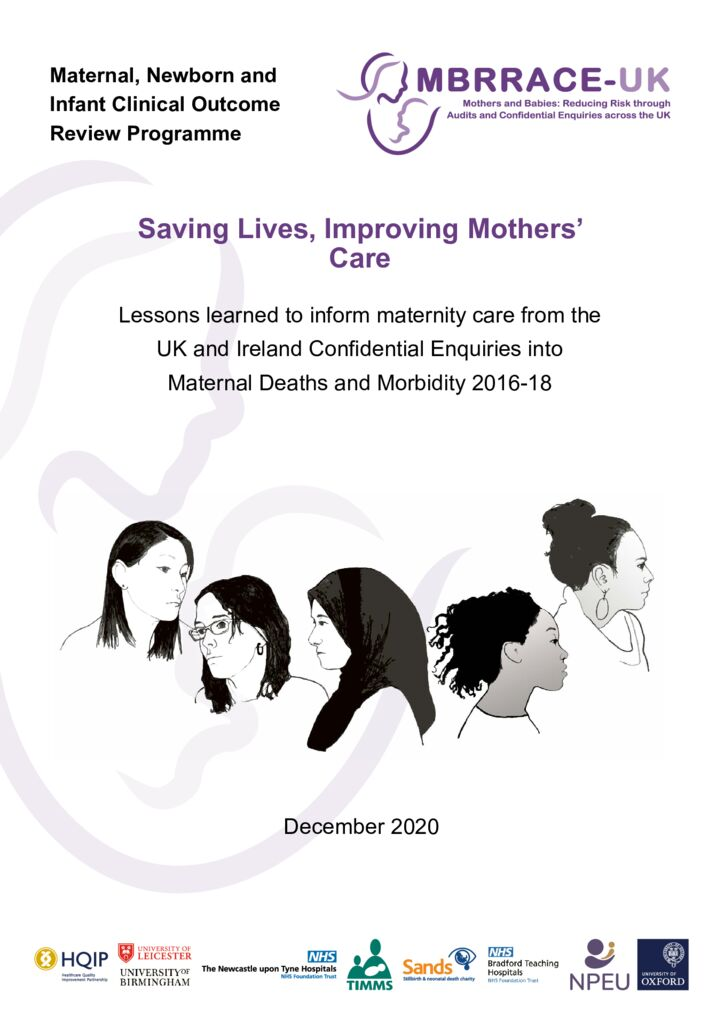 Maternal, Newborn and Infant programme: Saving Lives, Improving Mothers' Care 2020 report