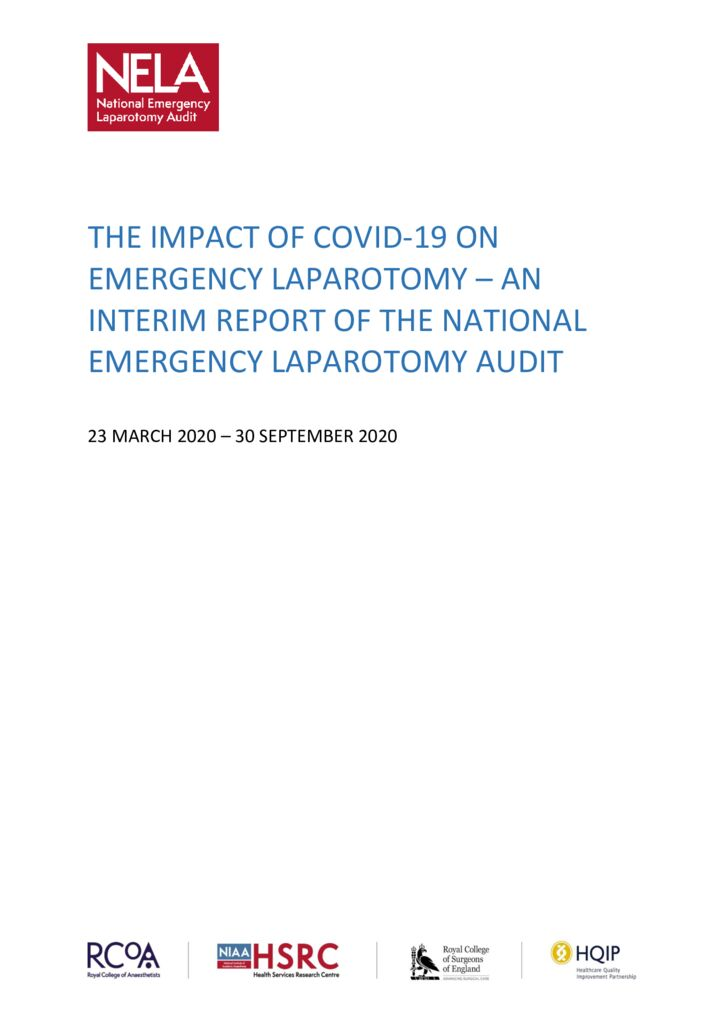 The Impact of COVID-19 on Emergency Laparotomy – An Interim Report