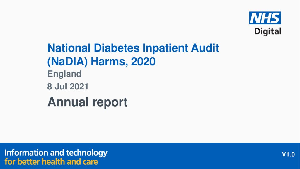 National Diabetes Inpatient Audit (NaDIA) Harms 2020