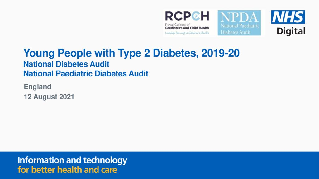 Young people with Type 2 Diabetes, 2019-2020